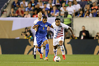 PHILADELPHIA, PENNSYLVANIA - JUNE 30: Michaël Maria #6, Weston McKennie #8 during the 2019 CONCACAF Gold Cup quarterfinal match between the United States and Curacao at Lincoln Financial Field on June 30, 2019 in Philadelphia, Pennsylvania. PHILADELPHIA, PENNSYLVANIA - JUNE 30: Michaël Maria #6, Weston McKennie #8 during the 2019 CONCACAF Gold Cup quarterfinal match between the United States and Curacao at Lincoln Financial Field on June 30, 2019 in Philadelphia, Pennsylvania.