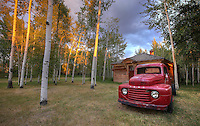 Rustic Red Ford Truck - Wyoming