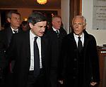 """GIANNI ALEMANNO CON GIORGIO ARMANI<br /> PRIMA DE """"LA TRAVIATA"""" TEATRO DELL'OPERA DI ROMA 2009"""