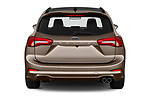 Straight rear view of a 2019 Ford Focus-Clipper  ST-Line 5 Door Wagon stock images