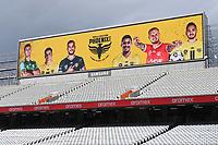 30th May 2021; Auckland, New Zealand;  Phoenix signage at Eden Park.<br /> Wellington Phoenix versus Perth Glory, A-League football at Eden Park.