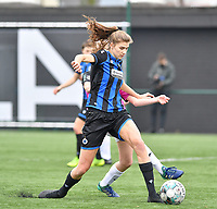 Marie Minnaert (13 Brugge) pictured during a female soccer game between Club Brugge Dames YLA and Eendracht Aalst Ladies on the 9 th matchday of the 2020 - 2021 season of Belgian Scooore Womens Super League , saturday 12 December 2020  in Brugge , Belgium . PHOTO SPORTPIX.BE | SPP | DAVID CATRY