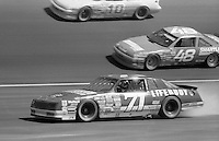 Dave Marcis (71) Chevrolet smoking 42nd place Motorcraft Quality Parts 500 at Atlanta International Raceway in Hampton , GA on March 19, 1989.  (Photo by Brian Cleary/www.bcpix.com)