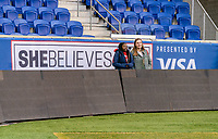 HARRISON, NJ - MARCH 7: SheBelieves Hero Semahj Ware watches the team at Red Bull Arena on March 7, 2020 in Harrison, New Jersey.