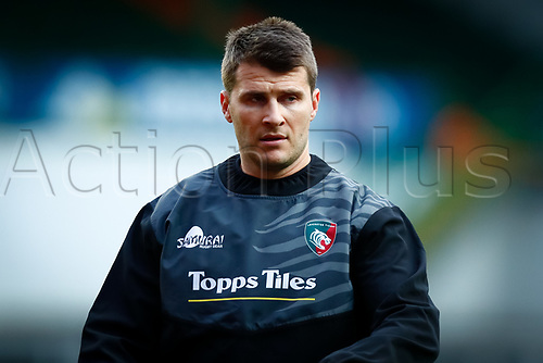 21st November 2020; Welford Road Stadium, Leicester, Midlands, England; Premiership Rugby, Leicester Tigers versus Gloucester Rugby; Richard Wigglesworth of Leicester Tigers during the pre-match warm-up