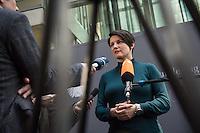 """49. Sitzung des NSU-Untersuchungsausschuss des Deutschen Bundestag.<br /> Als Zeuge war der ehemalige Neonazi und V-Mann Michael See alias Michael von Dolsperg (Deckname """"Tarif"""") geladen.<br /> Im Bild: Irene Mihalic, Obfrau von Buendnis 90/Die Gruenen, beim Pressestatement nach der nichtoeffentlichen Zeugenvernehmung.<br /> 16.2.2017, Berlin<br /> Copyright: Christian-Ditsch.de<br /> [Inhaltsveraendernde Manipulation des Fotos nur nach ausdruecklicher Genehmigung des Fotografen. Vereinbarungen ueber Abtretung von Persoenlichkeitsrechten/Model Release der abgebildeten Person/Personen liegen nicht vor. NO MODEL RELEASE! Nur fuer Redaktionelle Zwecke. Don't publish without copyright Christian-Ditsch.de, Veroeffentlichung nur mit Fotografennennung, sowie gegen Honorar, MwSt. und Beleg. Konto: I N G - D i B a, IBAN DE58500105175400192269, BIC INGDDEFFXXX, Kontakt: post@christian-ditsch.de<br /> Bei der Bearbeitung der Dateiinformationen darf die Urheberkennzeichnung in den EXIF- und  IPTC-Daten nicht entfernt werden, diese sind in digitalen Medien nach §95c UrhG rechtlich geschuetzt. Der Urhebervermerk wird gemaess §13 UrhG verlangt.]"""