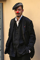 """MILOUD OUKILI.Photocall for the film """"Parada"""" in .Rome, Italy, September 17th 2008..half length  red nose funny hat cap.CAP/CAV.©Luca Cavallari/Capital Pictures"""
