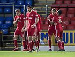 St Johnstone v Aberdeen…13.12.17…  McDiarmid Park…  SPFL<br />Kari Arnason celebrates his goal<br />Picture by Graeme Hart. <br />Copyright Perthshire Picture Agency<br />Tel: 01738 623350  Mobile: 07990 594431