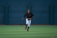 AZL D-backs center fielder Wilderd Patino (16) prepares to catch a fly ball during an Arizona League game against the AZL Mariners on July 3, 2019 at Salt River Fields at Talking Stick in Scottsdale, Arizona. The AZL D-backs defeated the AZL Mariners 3-1. (Zachary Lucy/Four Seam Images)