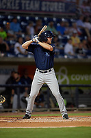 Mobile BayBears Jordan Zimmerman (21) at bat during a Southern League game against the Mobile BayBears on July 25, 2019 at Blue Wahoos Stadium in Pensacola, Florida.  Pensacola defeated Mobile 3-2 in the second game of a doubleheader.  (Mike Janes/Four Seam Images)