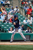 Scranton/Wilkes-Barre RailRiders left fielder Clint Frazier (5) bats during a game against the Rochester Red Wings on June 7, 2017 at Frontier Field in Rochester, New York.  Scranton defeated Rochester 5-1.  (Mike Janes/Four Seam Images)