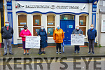 Ballybunion CU Temporary Closure: Protesting at the temporary closure of Ballybunion Credit Union were Tommy & Breda Fitzmaurice, Mary Wall, Leesha Meehan & Ann & Eileen Fogarty on Turesday last.