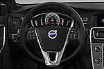 Car pictures of steering wheel view of a 2018 Volvo S60 R-Design 4 Door Sedan Steering Wheel