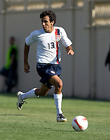 Jonathan Bornstein looks for a teammate. The USA defeated China, 4-1, in an international friendly at Spartan Stadium, San Jose, CA on June 2, 2007.