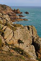 Blick vom Radio Tower am Corbière Point, Insel Jersey, Kanalinseln