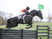 Farndale and Paddy Young sail a jump in the Choate.