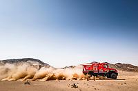 6th January 2021; Wadi Al Dawasir to Riyadh, Saudia Arabia; Dakar 2021 Rally, stage 4;  502 Viazovich Siarhei (blr), Haranin Pavel (blr), Zaparoshchanka Anton (blr), Maz, Maz-Sportauto, Camion, Truck, action during the 4th stage of the Dakar 2021 between Wadi Al Dawasir and Riyadh, in Saudi Arabia on January 6, 2021