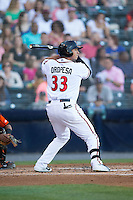 Ricky Oropesa (33) of the Richmond Flying Squirrels at bat against the Bowie Baysox at The Diamond on May 23, 2015 in Richmond, Virginia.  The Baysox defeated the Flying Squirrels 3-2.  (Brian Westerholt/Four Seam Images)