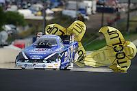 Jul, 21, 2012; Morrison, CO, USA: NHRA funny car driver Robert Hight during qualifying for the Mile High Nationals at Bandimere Speedway. Mandatory Credit: Mark J. Rebilas-US PRESSWIRE