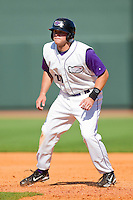 Nick Ciolli #20 of the Winston-Salem Dash takes his lead off of first base against the Wilmington Blue Rocks at BB&T Ballpark on April 24, 2011 in Winston-Salem, North Carolina.   Photo by Brian Westerholt / Four Seam Images