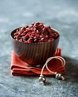 Gastronomie, Baies de Goji  de Ningxia  // Gastronomy,  Ningxia Goji berry - Stylisme : Valérie LHOMME