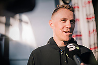 pre-race interview by Serge Pauwels (BEL/Dimension Data)<br /> <br /> MEN ELITE ROAD RACE<br /> Kufstein to Innsbruck: 258.5 km<br /> <br /> UCI 2018 Road World Championships<br /> Innsbruck - Tirol / Austria