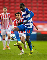 6th February 2021; Bet365 Stadium, Stoke, Staffordshire, England; English Football League Championship Football, Stoke City versus Reading; Lucas Joao of Reading controls a loose ball
