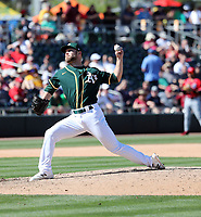 Cody Stull - Oakland Athletics 2020 spring training (Bill Mitchell)