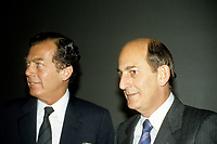 Edgar and Charles Bronfman, Seagram's, circa 1988<br /> <br /> PHOTO : Agence Quebec Presse