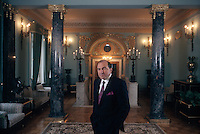 Moscow, Russia, 1997..Billionaire businessman and Kremlin insider Boris Berezovsky in his private club.