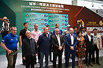 SHA TIN,HONG KONG-APRIL 28: The connections of Champions Mile at Champions Mile/Chairman's Sprint Prize Barrier Draw at Sha Tin Racecourse on April 28,2016 in Sha Tin,New Territories,Hong Kong (Photo by Kaz Ishida/Eclipse Sportswire/Getty Images)