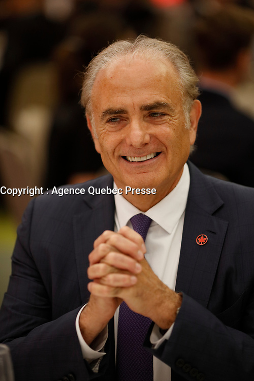 Calin Rovinescu, president and CEO, Air Canada, speak before the Greater Montreal Board of Trade, Thursday, september 28, 2017.<br /> <br /> He mentionned BOEING unfair attack on BOMBARDIER C serie in his speech,<br /> <br /> PHOTO :   Agence quebec Presse