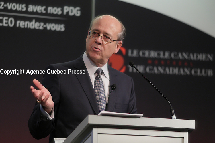 Ross Bayus<br /> , President of Valeo Energy Canada, deliver a speech to the Canadian Club of Montreal, Monday, November 16, 2015<br /> <br /> PHOTO : Pierre Roussel - Agence Quebec Presse