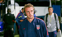 GEORGETOWN, GRAND CAYMAN, CAYMAN ISLANDS - NOVEMBER 19: Jackson Yueill #14 of the United States walks to the USMNT locker room during a game between Cuba and USMNT at Truman Bodden Sports Complex on November 19, 2019 in Georgetown, Grand Cayman.