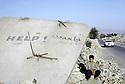 Irak 1991  Kala Diza en ruines, dynamitée par l'armee irakienne  Iraq 1991  Ruins of Kala Diza, dynamited by the Iraqi army