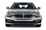 Car photography straight front view of a 2018 BMW 5 Series Touring Sport 5 Door Wagon