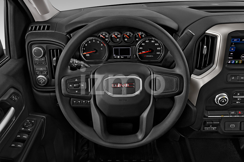 Car pictures of steering wheel view of a 2020 GMC Sierra-3500HD - 4 Door Pick-up Steering Wheel