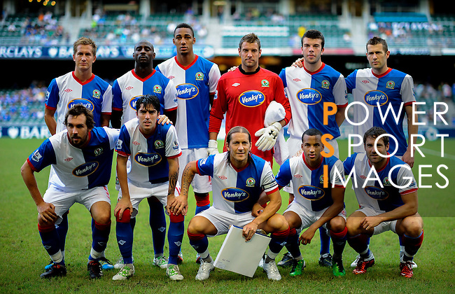 Blackburn Rovers players pose for a team photograph before the Asia Trophy match against Kitchee FC at the Hong Kong Stadium on July 30, 2011 in So Kon Po, Hong Kong. Photo by Victor Fraile / The Power of Sport Images