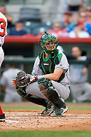 Daytona Tortugas Tyler Stephenson (30) during a game against the Florida Fire Frogs on April 7, 2018 at Osceola County Stadium in Kissimmee, Florida.  Daytona defeated Florida 4-3 in a six inning rain shortened game.  (Mike Janes/Four Seam Images)