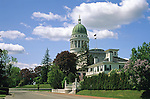 View of the Blaine House (Governor's residence) and the State House, Augusta, Maine, USA
