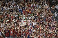 USA fans celebrate after a goal, .USA vs Mexico, Wednesday, Feb. 6, 2008, Reliant Stadium, Houston, Texas.