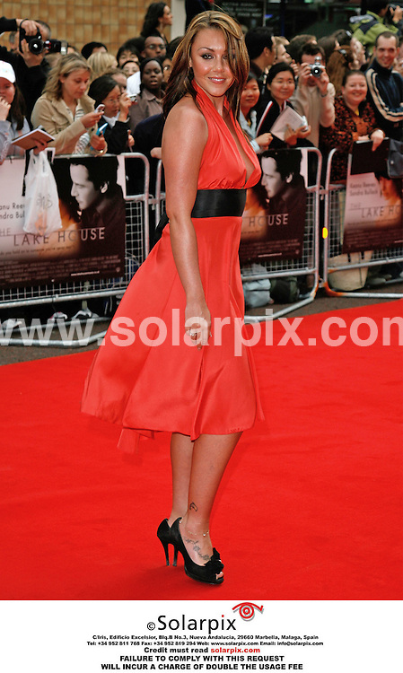 """ALL ROUND PICTURES FROM SOLARPIX.COM..Stars arrive for the premiere of """"The Lake House"""" at the Vue West End, Leicester Square, London.  Job Ref: 2505/PRS. This pic: Michelle Heaton.MUST CREDIT SOLARPIX.COM OR DOUBLE FEE WILL BE CHARGED."""