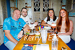 The Belyakov from Tralee enjoying the evening in Molly J's on Saturday, l to r: Igor, Andrey, Luba and Katherine.