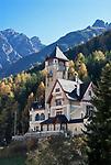 Schweiz, Graubuenden, Unterengadin, Vulpera oberhalb von Scuol: Hotel Villa Engiadina   Switzerland, Graubuenden, Lower Engadin, Vulpera above Scuol: Hotel Villa Engiadina
