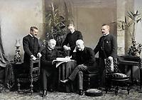 Русский композитор Чайковский с тремя братьями, 1890 год / Russian composer Tchaikovsky with three brothers, 1890