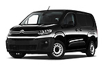 Stock pictures of low aggressive front three quarter view of 2020 Citroen Berlingo - 4 Door Car Van Low Aggressive
