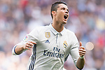 Cristiano Ronaldo of Real Madrid reacts during their La Liga match between Real Madrid and Deportivo Alaves at the Santiago Bernabeu Stadium on 02 April 2017 in Madrid, Spain. Photo by Diego Gonzalez Souto / Power Sport Images