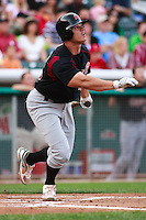 June 4, 2009:  Anthony Recker of the Sacramento River Cats, Pacific Cost League Triple A affiliate of the Oakland Athletics, during a game at the Spring Mobile Ballpark in Salt Lake City, UT.  Photo by:  Matthew Sauk/Four Seam Images