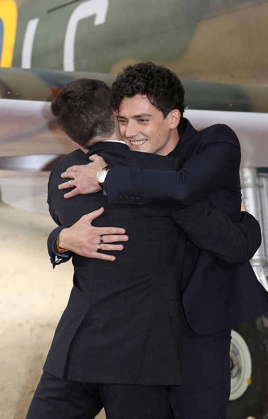 """Barry Keoghan and Aneurin Bernard<br /> at the """"Dunkirk"""" World Premiere at Odeon Leicester Square, London. <br /> <br /> <br /> ©Ash Knotek  D3289  13/07/2017"""