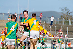 John B. O'Halloran Captain, Kilmoyley Conor Fitzell, Kilmoyley Kilmoyley players celebrate after winning the Kerry County Senior Hurling Championship Final match between Kilmoyley and Causeway at Austin Stack Park in Tralee
